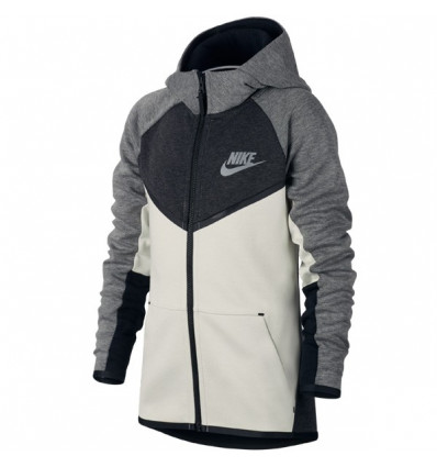 site réputé 208a2 46d60 Sweat de sport Nike sweat Tech Fleece junior gris noir blanc
