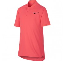 Polo Advantage NikeCourt Jr. (rose foncé)