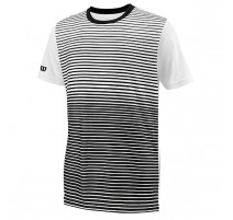 Tee-shirt Wilson Team Striped Jr. (noir-blanc)