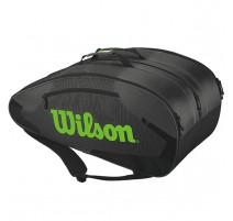 Sac de tennis Wilson Tour Team II Thermobag 12 (noir-gris-vert)
