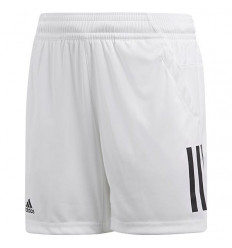 Short Adidas 3 Bandes Club enfant (blanc)