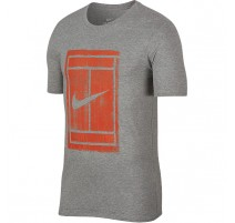 Tee-shirt NikeCourt Practice (gris-orange)