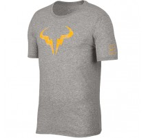 Tee-shirt Nadal NikeCourt (gris-orange)