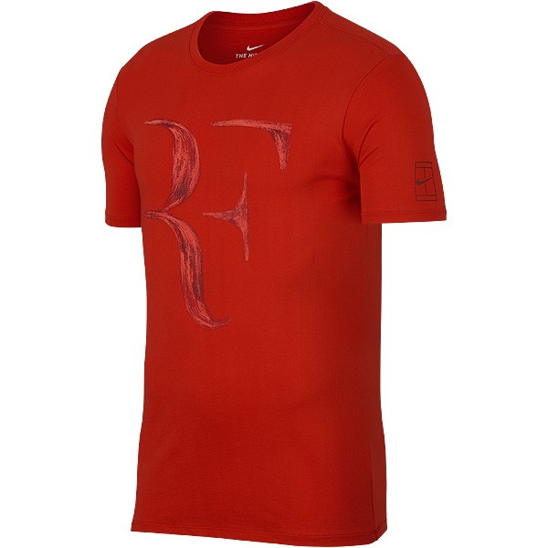 tee shirt de tennis nike federer 2018 rouge. Black Bedroom Furniture Sets. Home Design Ideas