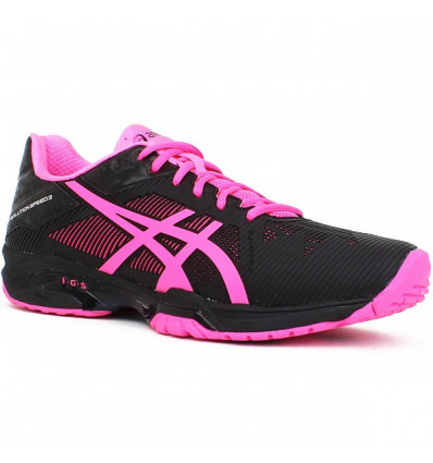 De 3 Femme Solution Rose Tennis 2018noir Speed Asics Gel Chaussure PwvON80ymn