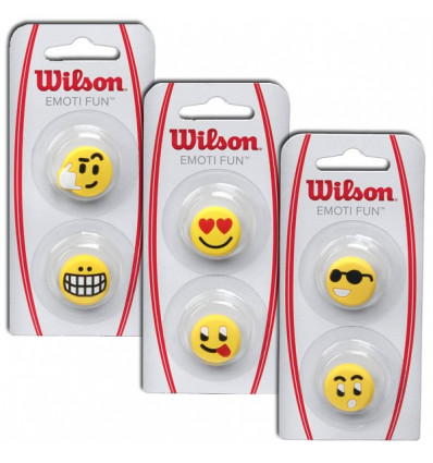 Antivibrateur wilson smiley Emoti Fun (x2)