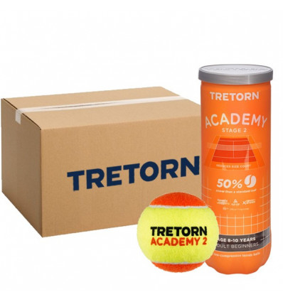 Carton de balles mini tennis orange Tretorn Academy Stage 2
