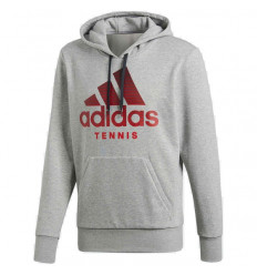 Sweat tennis Adidas Category Hoodie (gris-rouge)