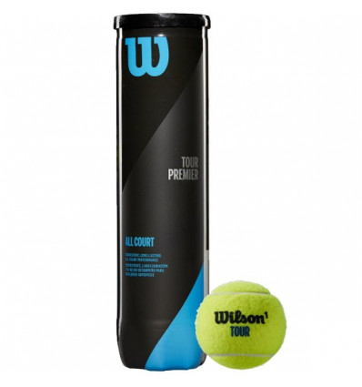 Tube 4 balles Wilson Tour Premier All Court