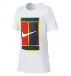 Tee-shirt tennis enfant Nike Court Heritage