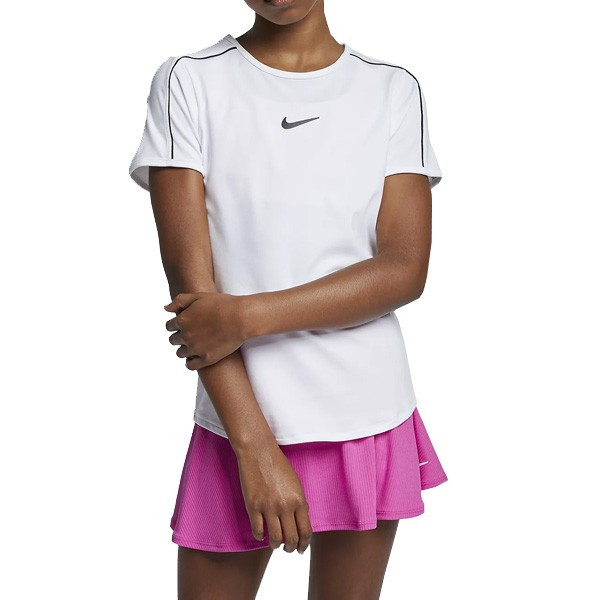 Tee shirt tennis fille Nike Court Dri Fit Vert ou violet
