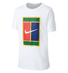 Tee-shirt tennis enfant Nike Court (blanc)