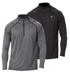 Tee-shirt manches logues Asics Icon 1/2 zip