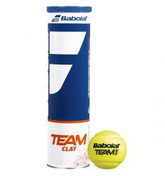 Tube 4 balles Babolat Team Clay