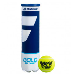 Tube 4 balles Babolat Gold All Court