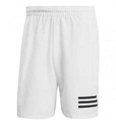 Short Club 3 Strippes blanc