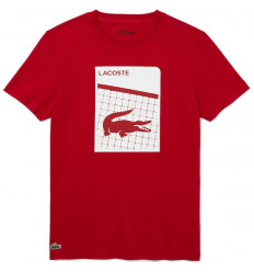 Tee-shirt Lacoste Tennis 3D rouge