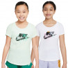 Tee-shirt tennis fille Logo Splash