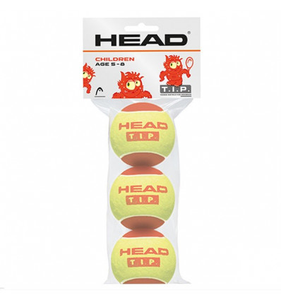 Sachet 3 balles Head Tip Red