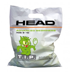 Sachet 72 balles Head Tip Green